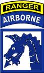 STICKER US ARMY UNIT 18th Airborne Corps Ranger