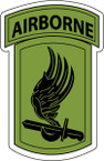 STICKER US ARMY UNIT 173rd Airborne Brigade SUB