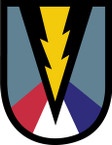 STICKER US ARMY UNIT 165 Infantry Brigade SHIELD