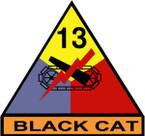 STICKER US ARMY UNIT 13th Armor Div. SHIELD COLOR