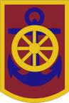 STICKER US ARMY UNIT 125 Transportation Command SHIELD