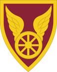 STICKER US ARMY UNIT 124 Transportation Command SHIELD