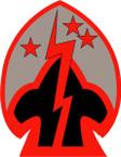 STICKER US ARMY UNIT 107th Regimental Combat Team SHIELD