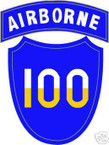 STICKER US ARMY UNIT 100th Airborne Div. SHIELD COL