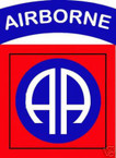 STICKER US ARMY UNIT  82ND AIRBORNE DIV SHIELD COL