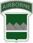 STICKER US ARMY UNIT  80th Infantry Airborne TAB