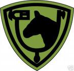 STICKER US ARMY UNIT  61ST Cavalry Div. SHIELD SUB