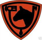 STICKER US ARMY UNIT  61ST Cavalry Div. SHIELD COL