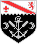 STICKER US ARMY UNIT  1st Engineer Battalion