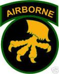 STICKER US ARMY UNIT  17th Airborne Div. SHIELD COL