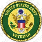 STICKER US ARMY VET SERVICE VETERAN B