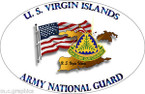 STICKER US Army National Guard US Virgin Islands with Flag