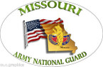 STICKER US Army National Guard Missouri with Flag