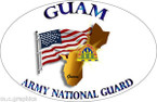STICKER US Army National Guard Guam with Flag II