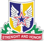 STICKER US Army National Guard Guam with Flag