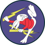 STICKER US ARMY AIR FORCE 383rd Fighter Squadron