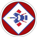 STICKER US ARMY AIR FORCE  5th AF - 22nd BG - 2nd Bomb squadron