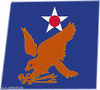 STICKER US ARMY AIR FORCE  2nd Air Force