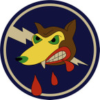 STICKER US ARMY AIR CORPS 412th Fighter Squadron - 373rd Fighter Group