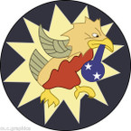 STICKER US ARMY AIR CORPS  7th Fighter Squadron