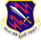 STICKER US Air Force SSI 821st Air Base Group