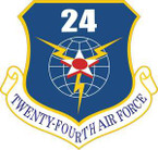 STICKER USAF 24th Air Force
