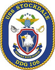 STICKER U.S. Navy USS Stockdale DDG 106 Destroyer Emblem Crest