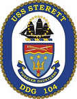 STICKER U.S. Navy USS Sterett DDG 104 Destroyer Emblem Crest