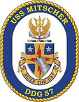 STICKER U.S. Navy USS Mitscher DDG 57 Destroyer Emblem Crest