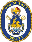 STICKER U.S. Navy USS McFaul DDG 74 Destroyer Emblem Crest