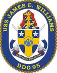 STICKER U.S. Navy USS James E. Williams DDG 95 Destroyer Emblem Crest