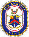 STICKER U.S. Navy USS America LHA-6 Amphibious Assault Ship Emblem