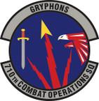 STICKER USAF 710th Combat Operations Squadron Emblem