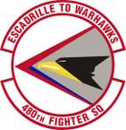 STICKER USAF 480th Fighter Squadron Emblem
