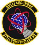 STICKER USAF 377th Comptroller Squadron Emblem