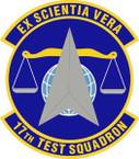 STICKER USAF 17th Test Squadron Emblem