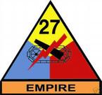 STICKER U S ARMY UNIT  27th Armor Div. SHIELD COLOR