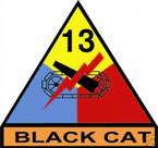 STICKER U S ARMY UNIT  13th Armor Div. SHIELD COLOR