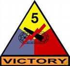 STICKER U S ARMY UNIT   5th Armor Div. SHIELD COLOR