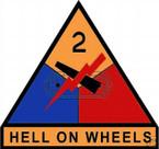 STICKER U S ARMY UNIT   2nd Armor Div. SHIELD COLOR