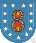 STICKER U S ARMY FLASH   8TH INFANTRY DIVISION