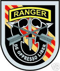 STICKER U S ARMY FLASH   5TH SPECIAL FORCES w TAB