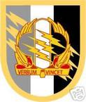 STICKER U S ARMY FLASH   4TH PSYCHOLOGICAL OPS