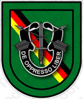 STICKER U S ARMY FLASH 10TH SPECIAL FORCES GROUP BAD TOLZ