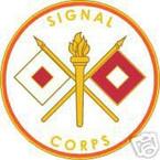 STICKER U S ARMY BRANCH SIGNAL CORPS
