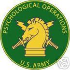 STICKER U S ARMY BRANCH Psychological Operations