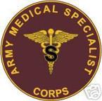 STICKER U S ARMY BRANCH MEDICAL SPECIALIST UNIT