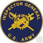 STICKER U S ARMY BRANCH INSPECTOR GENERAL UNIT