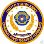 STICKER U S ARMY BRANCH CRIMINAL INVESTIGATION