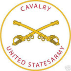STICKER U S ARMY BRANCH CAVALRY